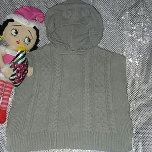 Baby Gap gray knitted poncho 5.